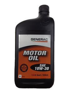 Generac Motor Oil SAE 10W-30 SN/GF-5 Part# 0J5093 ( 1 Quart )