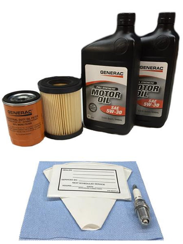 Generac 0J57640SSM 8kW Service Maintenance Kit with Synthetic Oil
