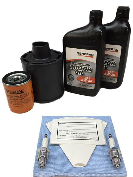 Generac 0J57660SSM 10kW Service Maintenance Kit with Synthetic Oil