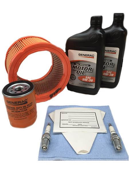 Generac 0J57680SSM 20kW Service Maintenance Kit with Synthetic Oil