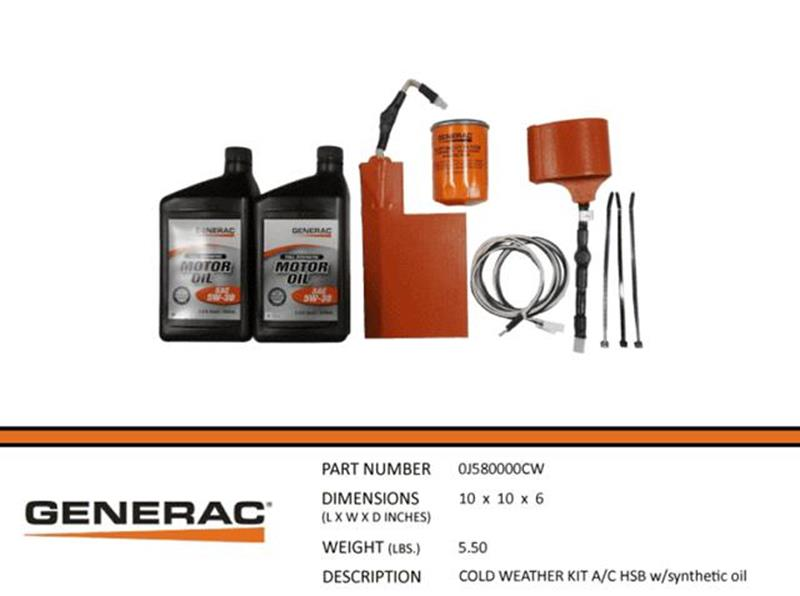 Generac Cold Weather A/C HSB KIT w/ synthetic oil - 24 Pack Part