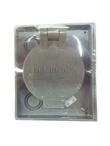 Generac 6341 50 Amp Twistlock Non-Metallic Power Inlet Box with Flip Lid