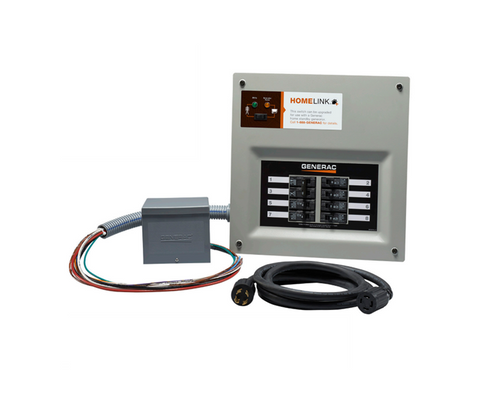 Generac 30 Amp indoor transfer switch kit for 8-10 circuit Model# 6853