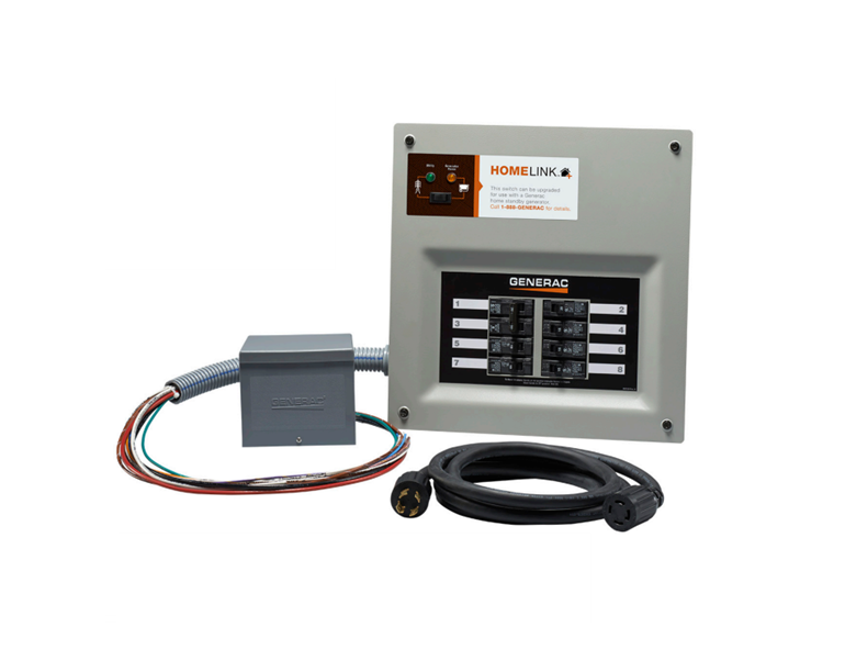 Generac 30 Amp indoor transfer switch kit for 8-10 circuit Model