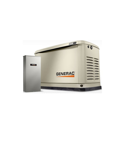 Generac 9/8 KW Air Cooled Standby Generator & 16 Circuit LC NEMA3 Model# 7030
