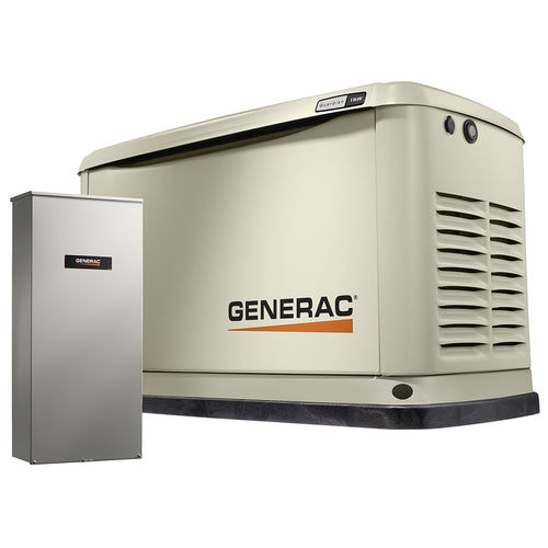 Generac 7032 -11/10 kW Air-Cooled Standby Generator, Alum Enclosure, 16 Circuit LC NEMA3 - no WHIP