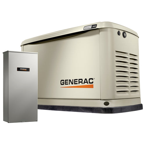 Generac 16 kW Air-Cooled Standby Generator With Bisque Aluminum enclosure & 200A SE ATS  Model # 7037