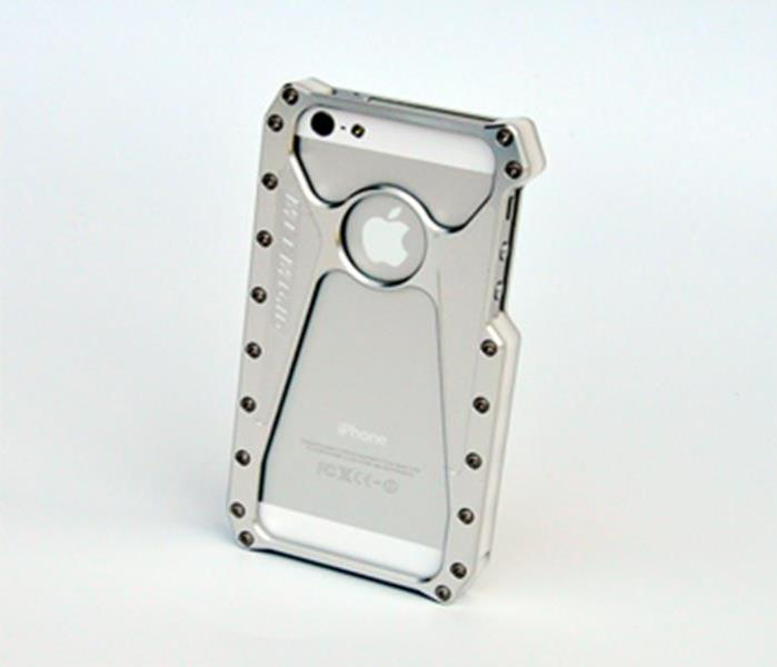 MeeMojo iPhone 5 Edge Series Billet Aluminum Case Color  Bright Natural Pearl