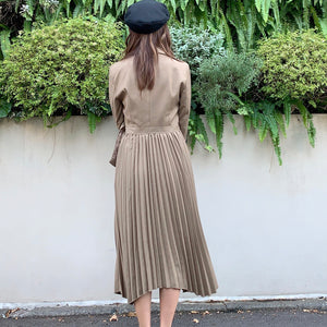 JM002 elegant pleated one-piece - Just me(ジャスト・ミー)