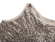 PrettyGuide Women's Full Sequin Tank Top Sleeveless Sparkle Shimmer Vest Tops Clubwear