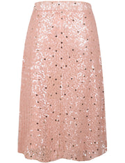 PrettyGuide Women's Sequin Midi Skirt Casual Flowy High Waist Cocktail Party Flare Skirt