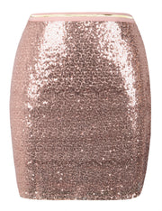 PrettyGuide Women's Sequin Skirt High Waist Glitter Bodycon Holiday Cocktail Party Short Skirt