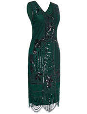 PrettyGuide Women's 1920s Flapper Dress Gatsby Sequin Scalloped Inspired Cocktail Dress