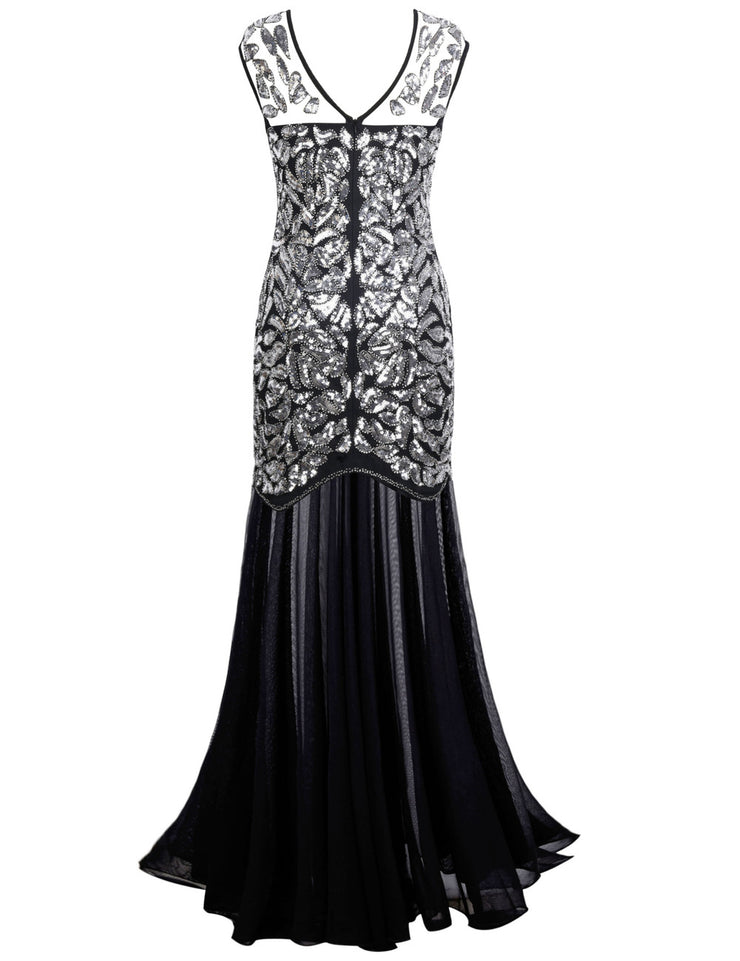 PrettyGuide Women 's 1920s Sequin Gatsby Flapper Formal Evening Prom Dress