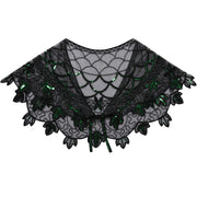 PrettyGuide Women 1920s Shawl Beaded Evening Wraps Flapper Bolero