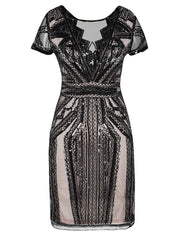 PrettyGuide Women Flapper Dress Sequin Inspired Cocktail Gatsby Dress