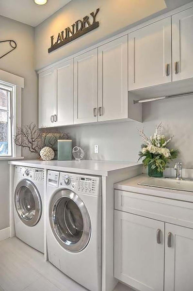 Whether it's a closet or an entire room, doing the laundry can be the most dreaded task inside the home