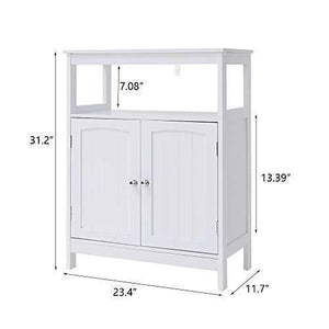 Related iwell bathroom floor storage cabinet with 1 adjustable shelf 3 heights available free standing kitchen cupboard wooden storage cabinet with 2 doors office furniture white ysg002b