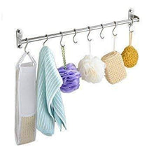 Load image into Gallery viewer, Try unitendo multifunction towel rack hanger hanging rack pan pot rack kitchen utensils organizer racks for kitchen and bathroom accessories in 31 stainless steel with 15 hooks