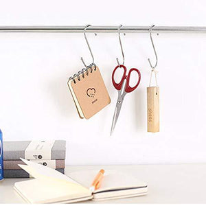 Kitchen betrome 20 pack 3 3 s hooks heavy duty s shaped hooks s shape hangers for kitchen bathroom bedroom and office
