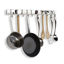 Load image into Gallery viewer, Selection wallniture kitchen bar rail pot pan lid rack organizer chrome 30 inch set of 2