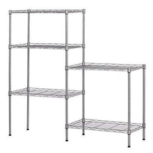 Load image into Gallery viewer, Budget 5 tier wire shelving units heavy duty adjustable stacking shelves storage rack organizer for laundry bathroom kitchen pantry us stock