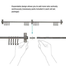 Load image into Gallery viewer, Top rated adtwixt stainless steel gourmet kitchen wall rail with 10 large s hooks 1
