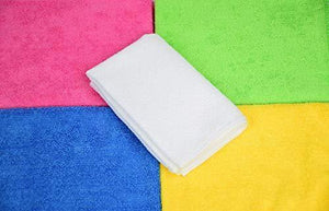 New cleaning solutions 79130 microfiber cleaning cloths pack of 50 large size ideal for home kitchen auto glass and pets 5 colors included