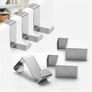 Best foccts 6pcs over the door hooks z shaped reversible sturdy hanging hooks saving organizer for kitchen bedroom cabinet drawer