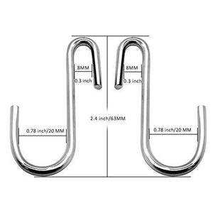 Save 30 pack cintinel heavy duty s hooks pan pot holder rack hooks hanging hangers s shaped hooks for kitchenware pots utensils clothes bags towels plants 1