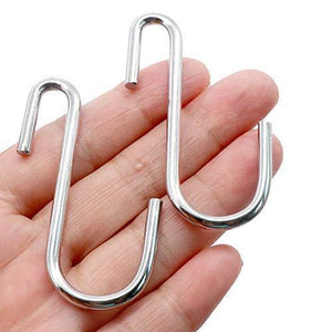 Purchase 40 pack heavy duty s hooks stainless steel s shaped hooks hanging hangers for kitchenware spoons pans pots utensils clothes bags towers tools plants silver