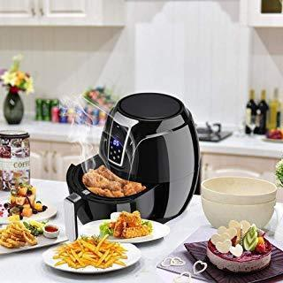 Great safeplus air fryer 1400w 3 4qt time control touch lcd electric hot airfryer oven with adjustable temperature air oil free fryer smokeless kitchen cooker