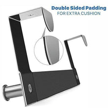 Load image into Gallery viewer, On amazon over the door hook hanging towel rack 18 8 stainless steel multiple use z shaped hanging over door hooks use for kitchen bathroom bedroom office cabinet door 6 hook
