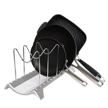 Load image into Gallery viewer, Shop here domajax dish drying rack pot rack pots drying rack pot lid organizer for kitchen counter sink cabinet