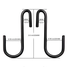 Load image into Gallery viewer, Select nice 30 pack esfun heavy duty s hooks black s shaped hooks hanging hangers pan pot holder rack hooks for kitchenware spoons pans pots utensils clothes bags towels plants