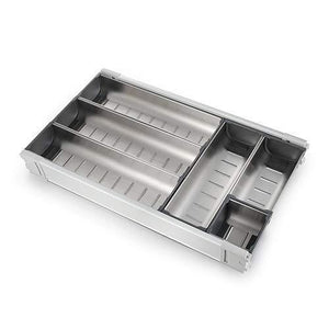 Buy drawer insert cabinet cutlery tray storage catering utensils box stainless steel kitchen 6 compartments 47 228 46 2cm