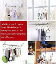 Load image into Gallery viewer, Explore sumdirect 10pcs scarf apparel punch cup bowl kitchen s shaped silver tone hanging hooks