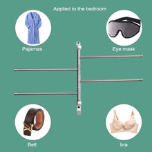 Load image into Gallery viewer, The best swivel towel bar for bathroom swing arm towel rack forbedroom wall mounted stainless steel swivel bars 4 arm for kitchen entryway hanger holder organizer with hooks noble ball head styling design