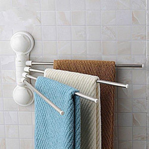 Storage organizer towel rack arricastle 4 bar towel rack with suction cup stainless steel swing towel rack hanger holder organize for bathroom and kitchen towel rack