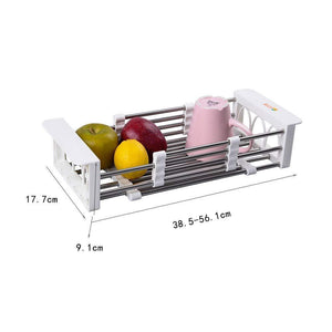 Save european stainless steel sink drain rack storage rack kitchen sink put dish rack tableware dish rack shelf kitchen storage