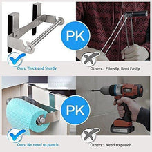 Load image into Gallery viewer, Products hasen under cabinet paper towel holder paper towel hanger brushed stainless steel paper towel rack kitchen paper towel holder no screws needed