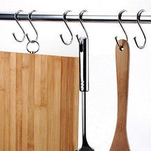 Load image into Gallery viewer, Organize with yumore s hook pro chef kitchen tools stainless steel double s hooks set kitchen spoon pan pot holder rack heavy duty s hook for door shelf storage organizer bathroom bedroom and office pack of 5