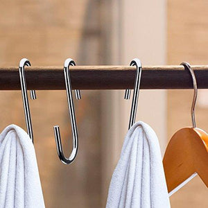 Order now 40 pack heavy duty s hooks stainless steel s shaped hooks hanging hangers for kitchenware spoons pans pots utensils clothes bags towers tools plants silver