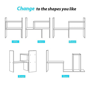 Select nice desktop organizer office storage adjustable display bookshelf double shelf desk supplies for office kitchen multipurpose rack