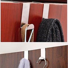 Load image into Gallery viewer, Buy foccts 6pcs over the door hooks z shaped reversible sturdy hanging hooks saving organizer for kitchen bedroom cabinet drawer