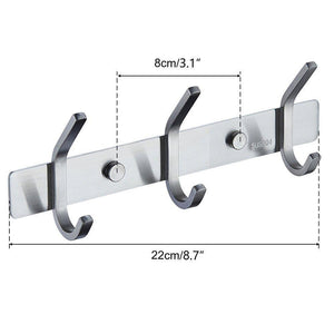 Best mellewell utility hook rails storage racks 8 7 inch with 3 heavy duty hooks wall coat robe towel pan hook hanger bathroom kitchen organizer brushed stainless steel 2 pack 08002hk03