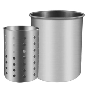 Discover utensil holder stainless steel kitchen cooking utensil holder for organizing and storage dishwasher safe silver 2 pack