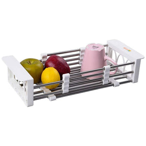 Results european stainless steel sink drain rack storage rack kitchen sink put dish rack tableware dish rack shelf kitchen storage