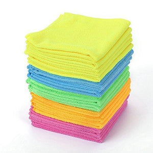 Online shopping microfiber cleaning cloth hijina pack of 20 size 12 x12 for cleaning tasks in the kitchen bathroom dining room and more plain 5 colors x 4