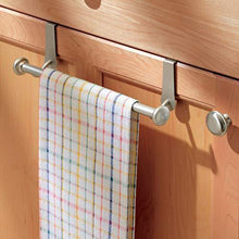 Load image into Gallery viewer, The best interdesign york over the cabinet kitchen dish towel bar holder satin